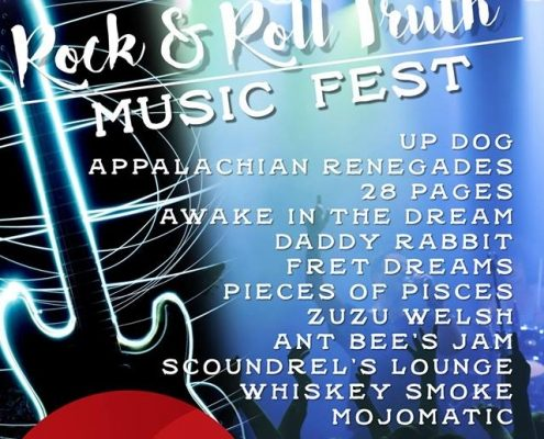 Flyer listing bands and information for Rock & Roll Truth Fest