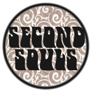 """Round logo with """"Second Souls"""" written in a 60's style font in the middle"""