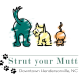 strut your mutt event logo with illustration of two dogs and a cat