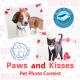 Promotional image for a valentine's day themed pet photo contest