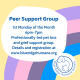 promo image for a peer support gorup
